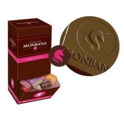 Monbana шоколадные плиточки ассорти 200шт 10 видов