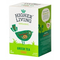 Higher Living Organic green tea Chai 20 teabags