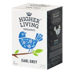 Higher Living Organic Earl Grey black tea 20 teabags