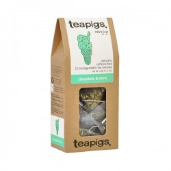 Teapigs Chocolate & Mint tea pyramid