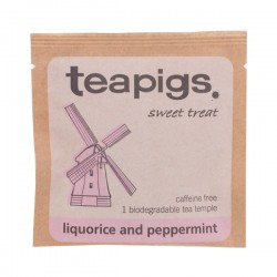 Teapigs Liquorice & Peppermint tea pyramid