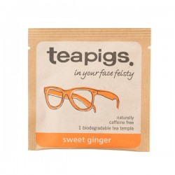 Teapigs Sweet Ginger Pyramid herbal tea pyramid