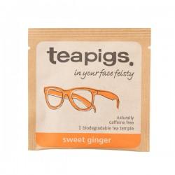 Teapigs Sweet Ginger Pyramid herbal tea pyramid