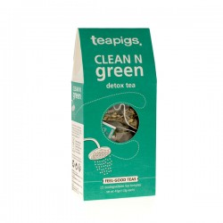 Teapigs Clean N Green Detox tea pyramid x15