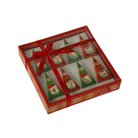 Liran Christmas Black and Green Tea Collection pyramids 8x2g