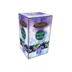 Regalo zaļā tēja ar mellenēm 2gx20 tējas maisiņi