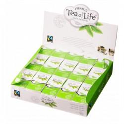 Tea of Life Fair Trade Pyramid Sencha zaļā tēja piramīdas maisiņā 2gx25