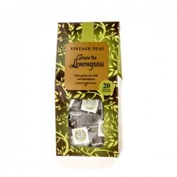 Vintage Teas Pyramid zaļā tēja ar citronzāli zīda piramīdas maisiņā 20gab.x2,5g