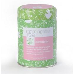 Vintage Teas SWEET START Pyramid zaļā tēja ar rabarberu zīda piramīdas maisiņā 10 gab.