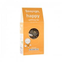 Teapigs Organic Happy Uplifting био зеленый чай с мелиссой в пирамидке 15шт.