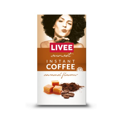 Livee Sunset instant coffee with caramel flavor 60g