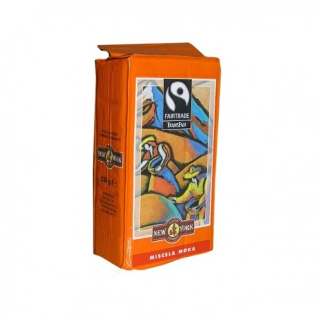 Ground coffee NEW YORK FAIRTRADE MISCELA MOKA, 250g