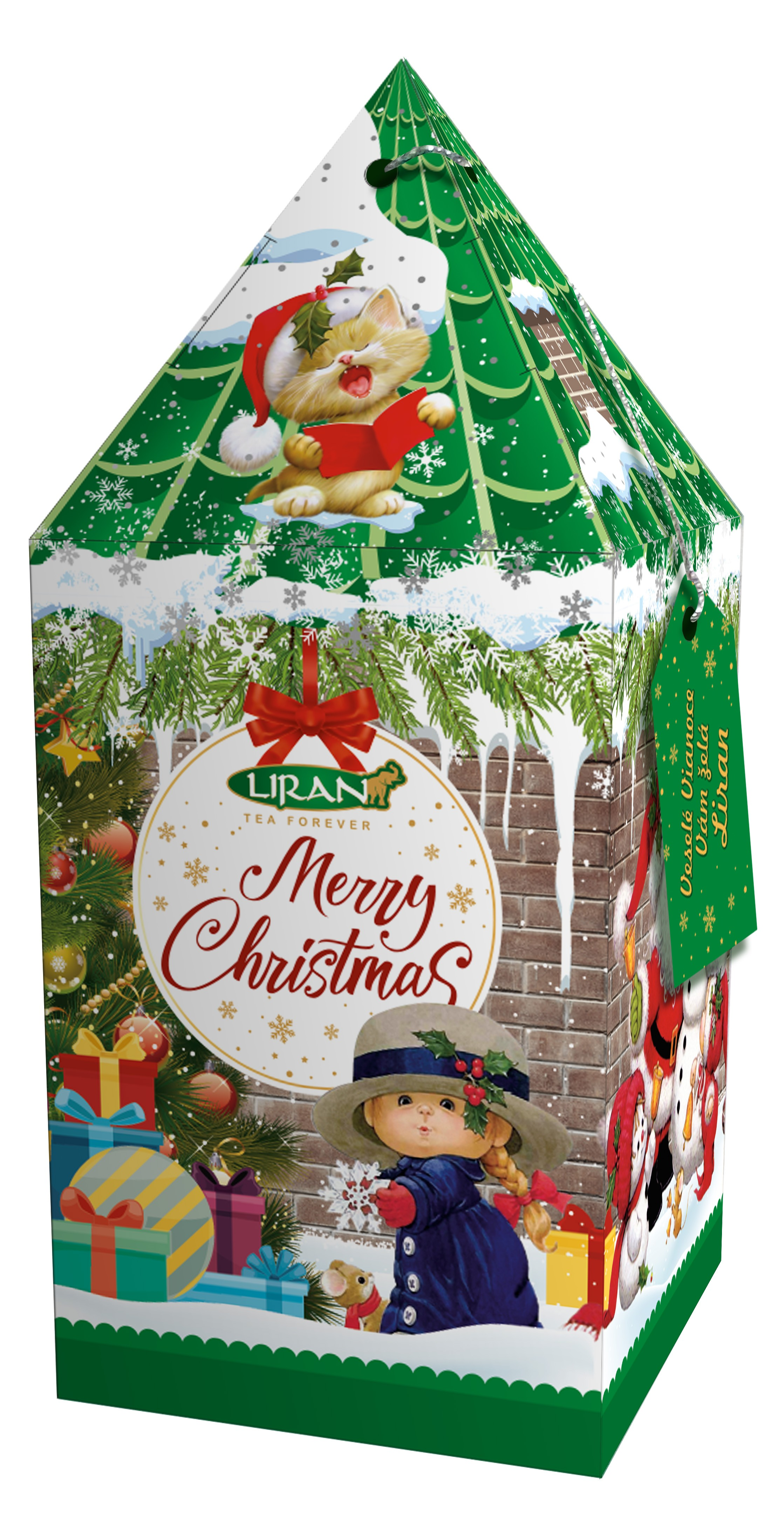 Liran Merry Christmas Green House Green tea with apple, honey and ...