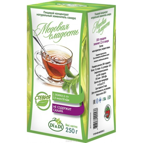 Di & Di SUGAR-SUBSTITUTE based on stevia extract, natural Honey sweet 250 g