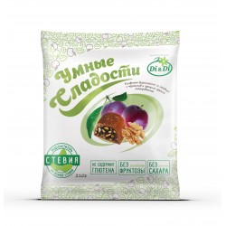 Clever Sweets CANDIES with stevia, with prunes and walnut, glazed 210 g