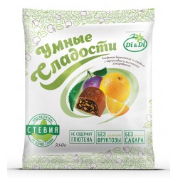Smart Sweets Candies with stevia, with prunes and orange, glazed 210 g