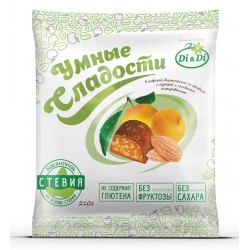 Smart Sweets Candies with stevia, with dried apricots and almonds, glazed 210 g