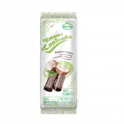 Smart Sweets BARS with stevia, amaranth,  with coconut filling, glazed, vitaminized 20 g
