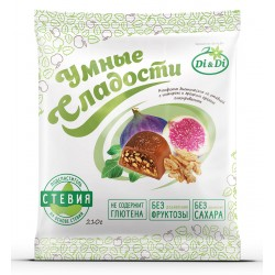 Smart sweets Chocolate CANDIES with stevia, with figs and walnuts 210g