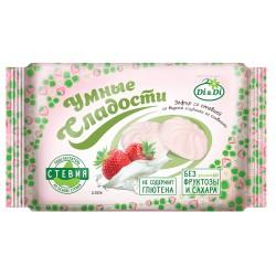 Умные сладости ЗЕФИР со стевией, клубника со сливками 150 г Без сахара