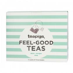 Teapigs Feel Good Tēju Dāvanu komplekts 3x15gab. piramīdas