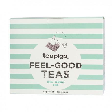 Teapigs Feel Good Teas Gift Set 3x15pcs pyramids
