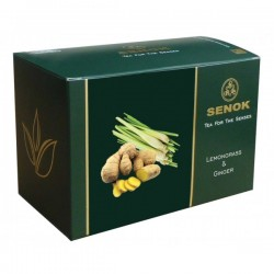 Senok zaļā tēja ar citronzāli un ingveru maisiņos 2g x 20 gab.
