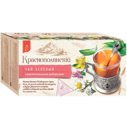 Krasnodar Krasnopolansky Green tea with lemon balm and camomile 25 tea bags