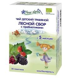 Fleur Alpine био Лесной Сбор с Пребиотиками Чай детский травяной c 5 месяцев, в пакетиках