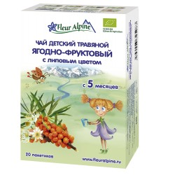 Fleur Alpine Berry and Fruit with Linden flowers organic Baby herbal tea from 5 month
