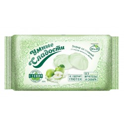 Gudrie saldumi ZEFĪRS ar stēviju ar zaļo ābolu garšu 50g Bez cukura