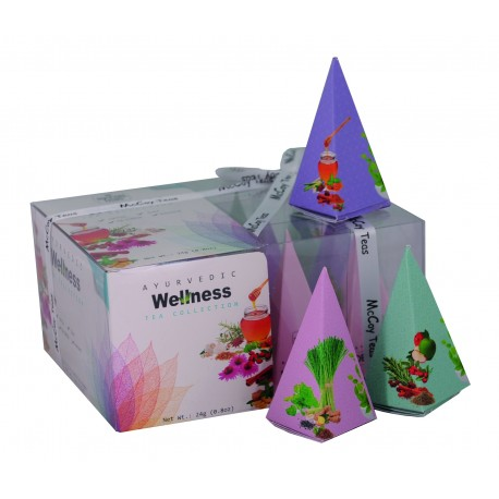 MCCOY TEAS Ayurvedic Wellness green tea collection pyramid 2gx12 pcs