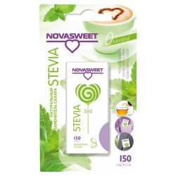 Novasweet заменитель сахара на основе стевии натуральный, 150 таблеток