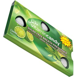 Jake vitamin Candy конфеты без сахара с витамином C со вкусом зеленого чая и лайма 15шт 18г