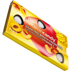 Jake vitamin Candy without sugar with C vitamin Peach 15 pcs 18g