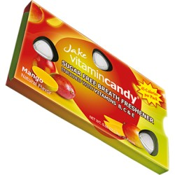 Jake vitamin Candy konfektes bez cukura ar vitamīnu C ar mango garšu 15gab 18g