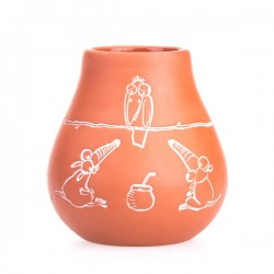 Pizca del Mundo Matero Fortaleza clay pot for yerba mate 300ml