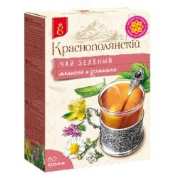 Краснодар Краснополянскiй Чай зеленый с мелиссой и ромашкой 60 г
