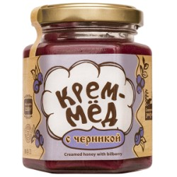 Creamed honey with blueberry 220 g