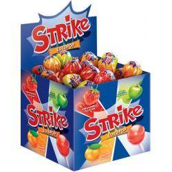 Карамель на палочке Strike фруктовое ассорти 11.3 г