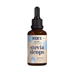 Nick's Stevia Drops neitrāla garša, 50 ml