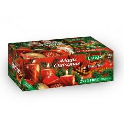 Liran Magic Christmas черный чай с апельсином и корицей в пакетиках 30шт x 2г
