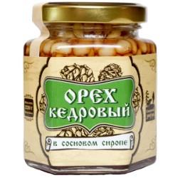 Кедровые орехи в сиропе из сосновых шишек 220 г Сибирский Знахарь
