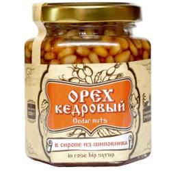 Кедровые орехи в сиропе изшиповника 220 г Сибирский Знахарь