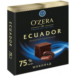O`Zera chocolate bitter Ecuador 75 % cocoa 90g