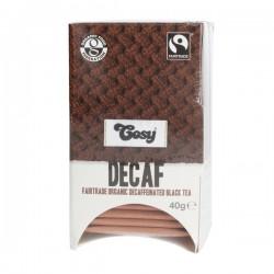 Cosy Tea DECAF Fairtrade Organic bio melnā tēja bez kofeīna 20 tejas maisiņi (40g)