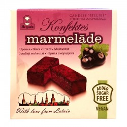 Me Gusta MARMELAD black currant 150 g No sugar added, vegan