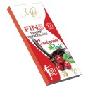 MILETE FINE dark chocolate with stevia and cranberries 80g
