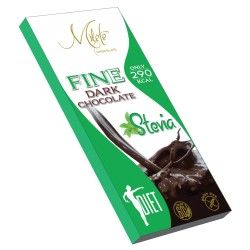 MILETE FINE dark chocolate with stevia 80g