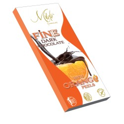 MILETE FINE dark chocolate with maltitol and orange pieces80g